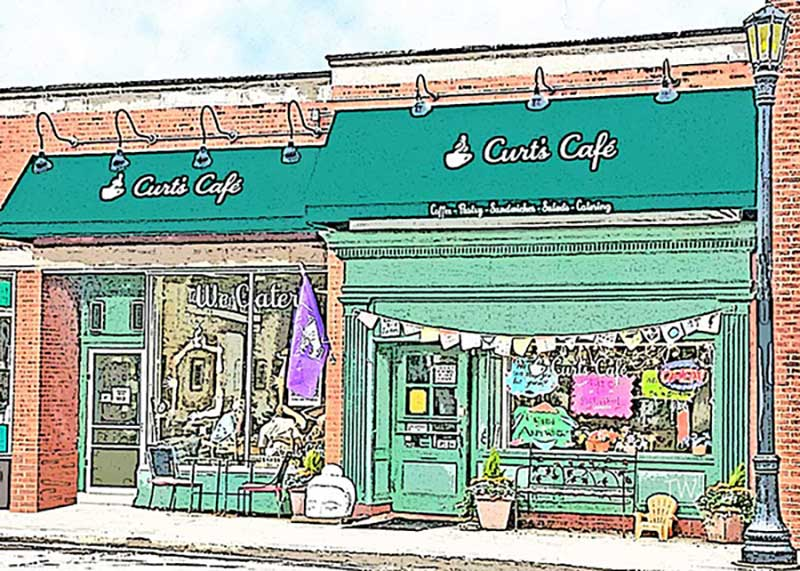 Tom Wingader art Curt's Cafe North
