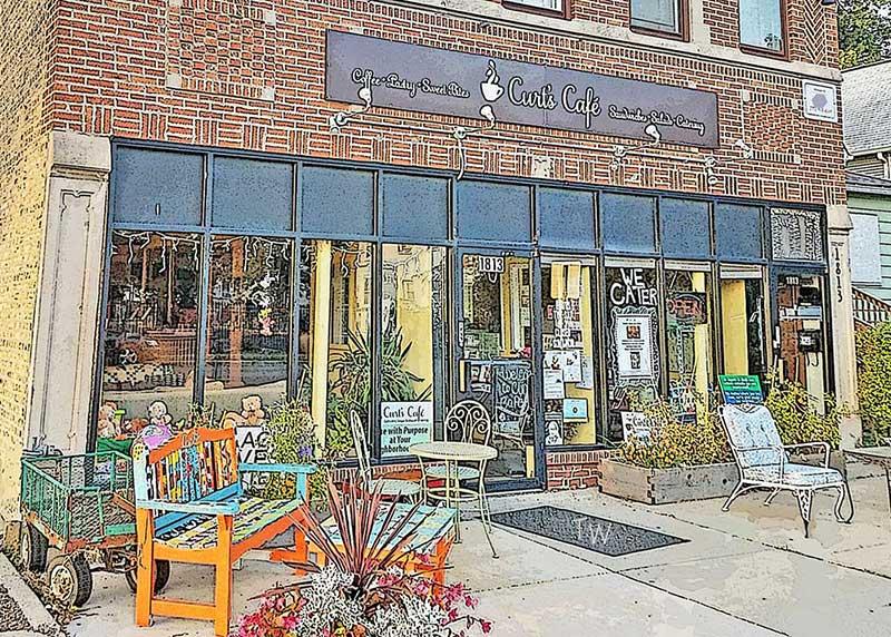 Tom Wingader art Curt's Cafe South
