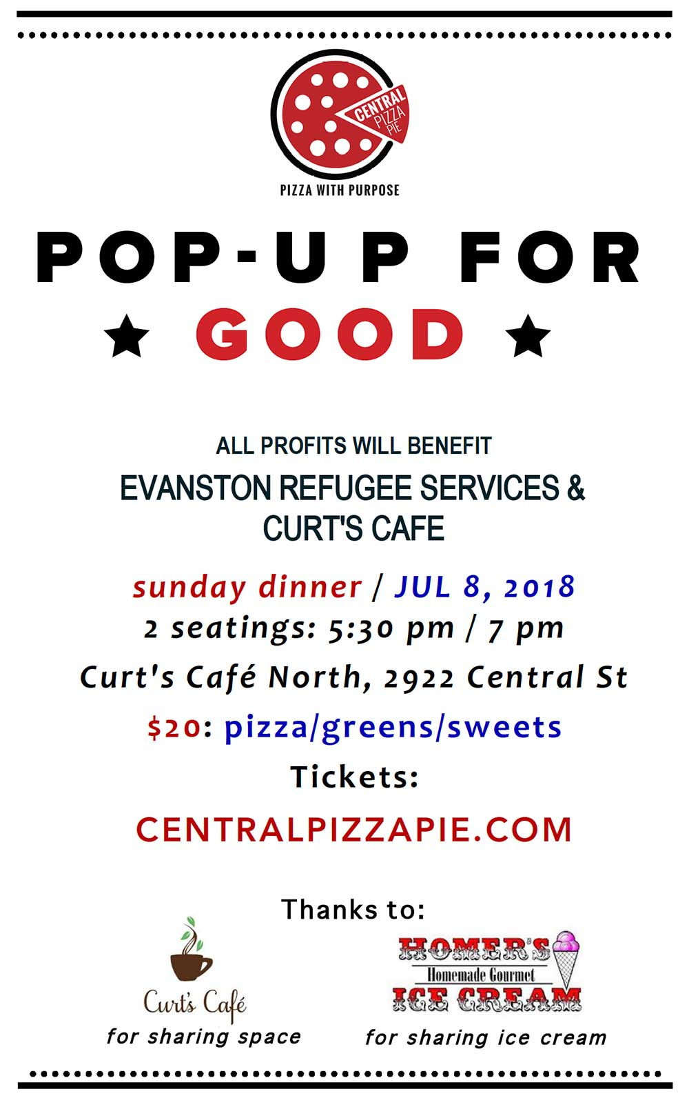 Central Pizza Pie pop-up on July 8 - Curt's Café